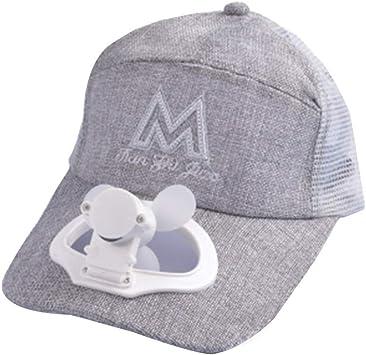 Surfiiy - Sombrero de béisbol de Verano para Exteriores - Sombrero de refrigeración con Ventilador frío y Visera de Malla Deportiva - Recarga USB para Adultos y niños - Gorro Transpirable portáti: