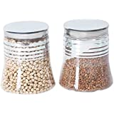 Steelo Belly Container Set, 2 Litres, Set of 2