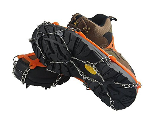 Ice Snow Cleat Shoe Boot Tread Grips Traction Crampon Chain Spike for Winter Outdoor Sport Walking Hiking Climbing Hunting by cth