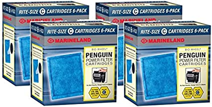 Amazon.com : MarineLand Rite-Size Cartridge C - 24-Pack (4 Packages with 6 Filters Per Package) : Pet Supplies