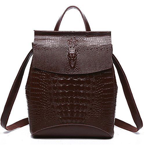 (jvp1092-c) Shoulder Bag Backpack Cowhide Luc 3way Black Brown Marine Red Wine Single Large Capacity Waterproof Ring Brown Travel Girls
