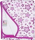 MiracleWare Cozy Sleeper Blanket Serenity Muslin Blanket - Radiant Orchid Star