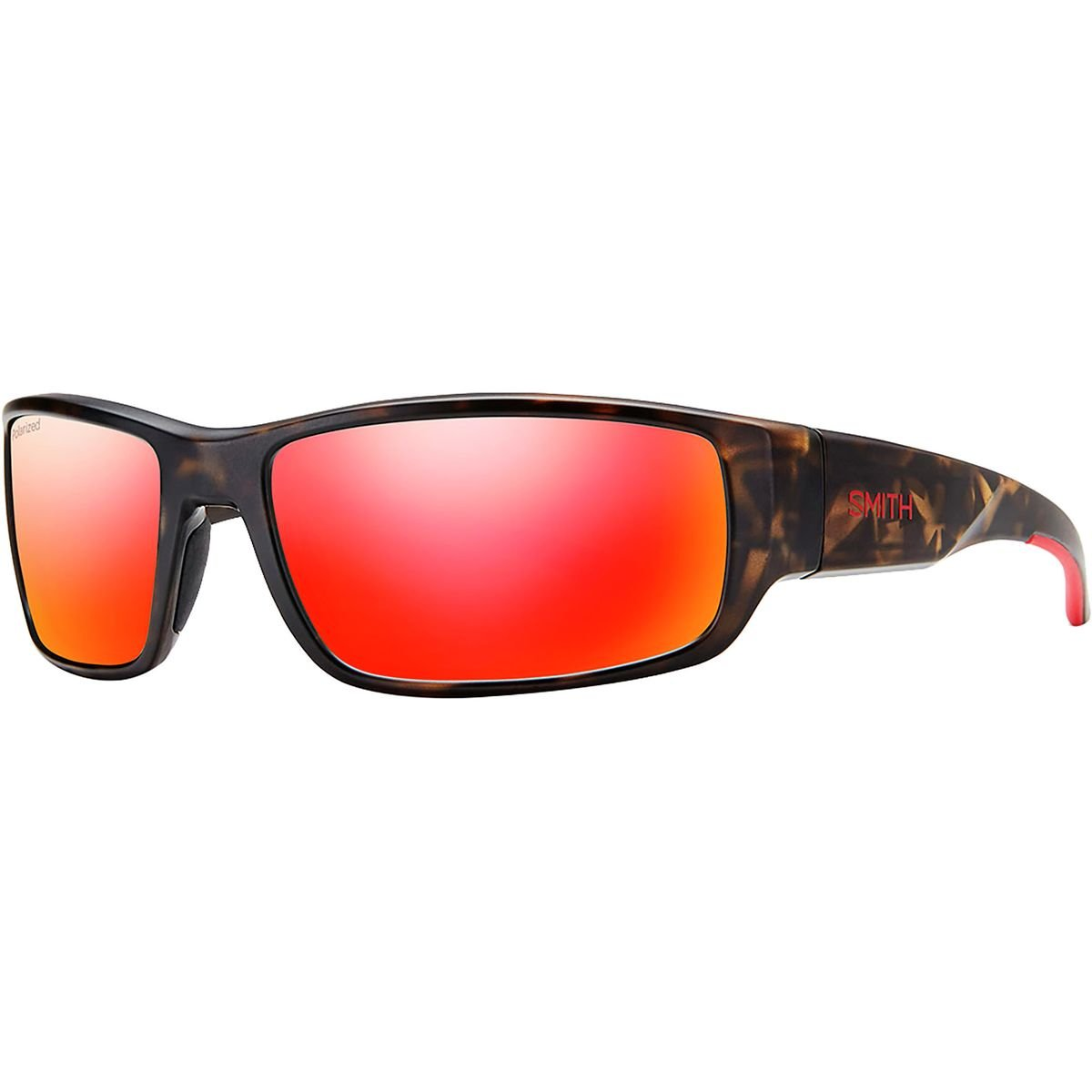 Smith Survey Polarized Sunglasses Matte Camo/Polarized Red Mirror, One Size - Men's