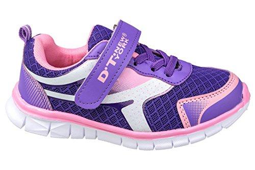 gibra - Zapatillas para deportes de interior de textil/sintético para niña morado/rosa