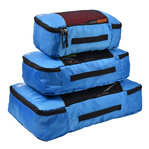 Hopsooken Packing Cubes System - 3 Pieces Sets Travel Luggage Packing Organizers ()