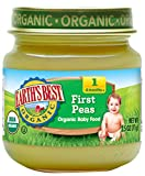 Earth's Best Organic Stage 1 Baby Food, Peas, 2.5 Ounce Jars, Pack of 12