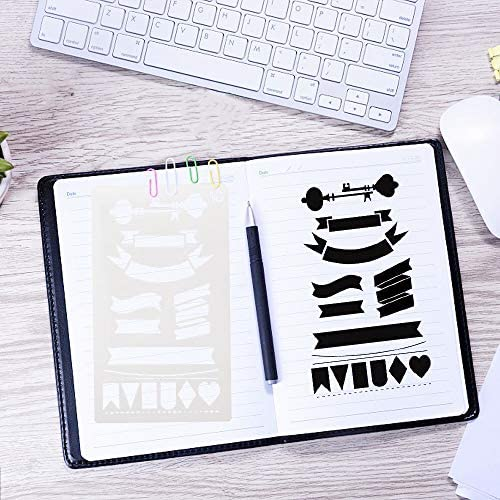 Scrapbook Diary DIY Drawing Template 39PCS Letter and Number Stencils Journal Stencils Storage for Notebook
