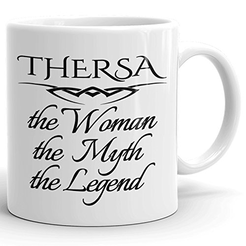 Best Personalized Womens Gift! The Woman the Myth the Legend - Coffee Mug Cup for Mom Girlfriend Wife Grandma Sister in the Morning or the Office - T Set 3