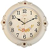 FortuneVin Wall Clock Silent movement Wall Clock Home Office Decor for Living Room Bedroom and Kitchen Clock Wall 16 In Silent, Wall Table Creative Quartz16 India40.5Cm White Cracks