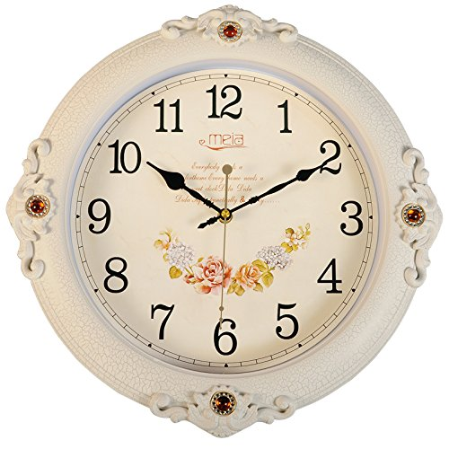 FortuneVin Wall Clock Silent movement Wall Clock Home Office Decor for Living Room Bedroom and Kitchen Clock Wall 16 In Silent, Wall Table Creative Quartz16 India40.5Cm White Cracks by FortuneVin (Image #1)