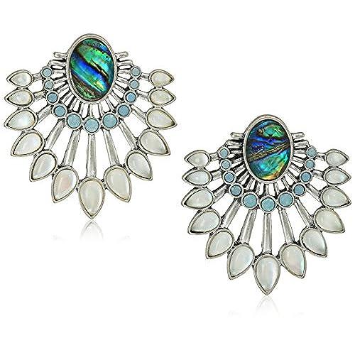 Lucky Brand Womens Stone Chandelier Drama Earrings