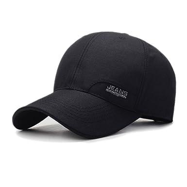 73e1c0fa Zeltauto Men's Baseball Cap Polo Style Breathable Sport Hat Adjustable  Quick Dry Cotton (Black)