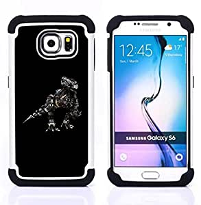 - Robosaurus - - Doble capa caja de la armadura Defender FOR Samsung Galaxy S6 G9200 RetroCandy