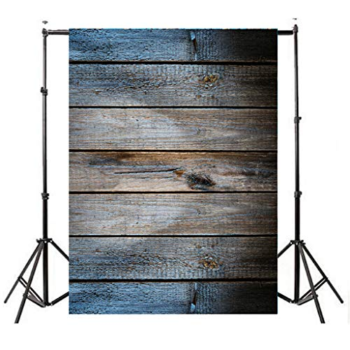 - LiPing Vinyl Wood Wall Floor Photography Studio Prop Backdrop Background 3x5FT (D)