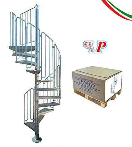 SPIRAL STAIRCASE   Modular Kit   Diam. 100cm Or 120 Cm. Galvanized Iron