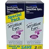 Bausch & Lomb Sensitive Eyes Plus Saline Solution 12 Oz 2-Count