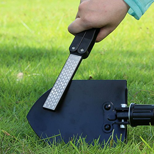 XH Double Sided Folded Pocket Sharpener Diamond Knife Sharpening Stone Outdoor