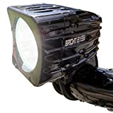 Bright Eyes Bike Light - Rechargeable Headlight - NEWLY UPDATED 1200 LUMENS - 6400mAh Battery - FREE TAILLIGHT AND DIFFUSER LENS Included - WATERPROOF - No Tools needed