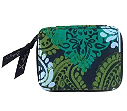 Vera Bradley Travel Pill Case in Caribbean Sea with Solid Navy Lining