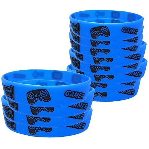 Video Game Kids' Wristbands (12), Gaming Party Accessories, Party Favors and Handouts, Gaming Party Supplies, Video Game Wearables by Blue Orchards
