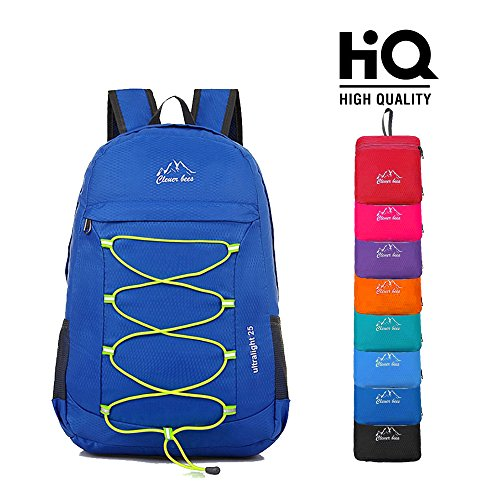 CLEVER BEES Outdoor Water Resistant Hiking Backpack, Blue