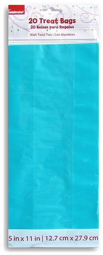 Amazon.com: Teal bolsas de celofán para dulces con Twist ...