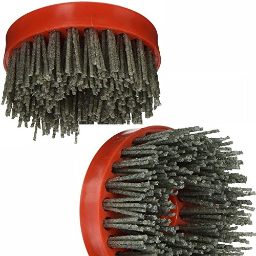 4-Inch Diamond Silicon Carbide Antiquing Brush Grt 36 Grit 80 Grit 500 Grit with 5/8-11 Thread Snail Lock for granite marble stone texture work with grinder wet polisher masonry repair