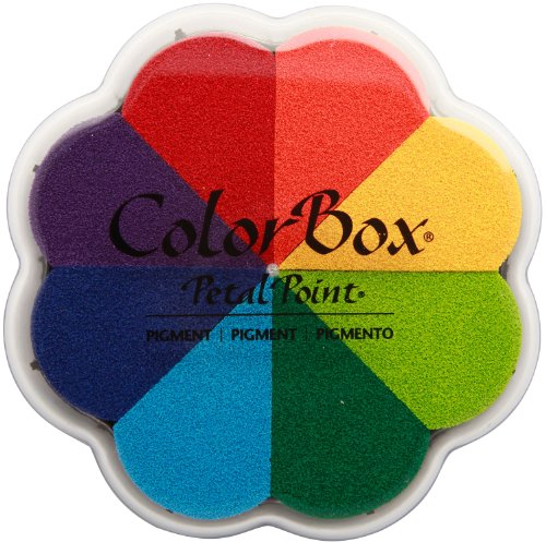 CLEARSNAP ColorBox Pigment Petal Point Option Inkpad 8-Color, Pinwheel -