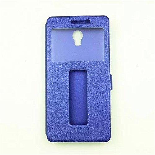Vibe P1 5.5 funda , Lenovo Vibe P1 Smartphone 5.5 Inch funda , Lifetrut® [ azul ] [Slim Fit] Ventana tirón Seda Ver la PU del tirón de la caja del cuero de la cubierta en folio funda para Lenovo Vibe