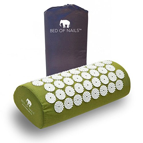 Bed of Nails, Green Original Acupressure Pillow for Neck/Body Pain Treatment, Relaxation, Mindfulness