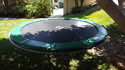 12 Ft. Exercise Trampoline - Galactic Xtreme Round Circle Outdoor Trampoline ONLY, NO NET ENCLOSURE - Safe & Strong 2.0 mm Steel Frame, Non-Abrasive Permatron Mat & PVC Spring Pad - 400 lbs Capacity by HappyTrampoline