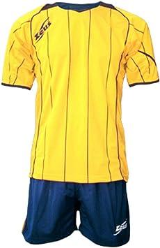 Zeus Hombre Niños Set Camiseta Camiseta Pantalones pequeño Armel Kit de fútbol de fútbol sala Kit Monaco Amarillo Azul, amarillo (Amarillo) - KIT MONACO: Amazon.es: Equipaje