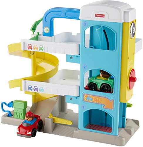 Fisher-Price Little People the Helpful Neighbor's Garage (Car Ramp Toy)