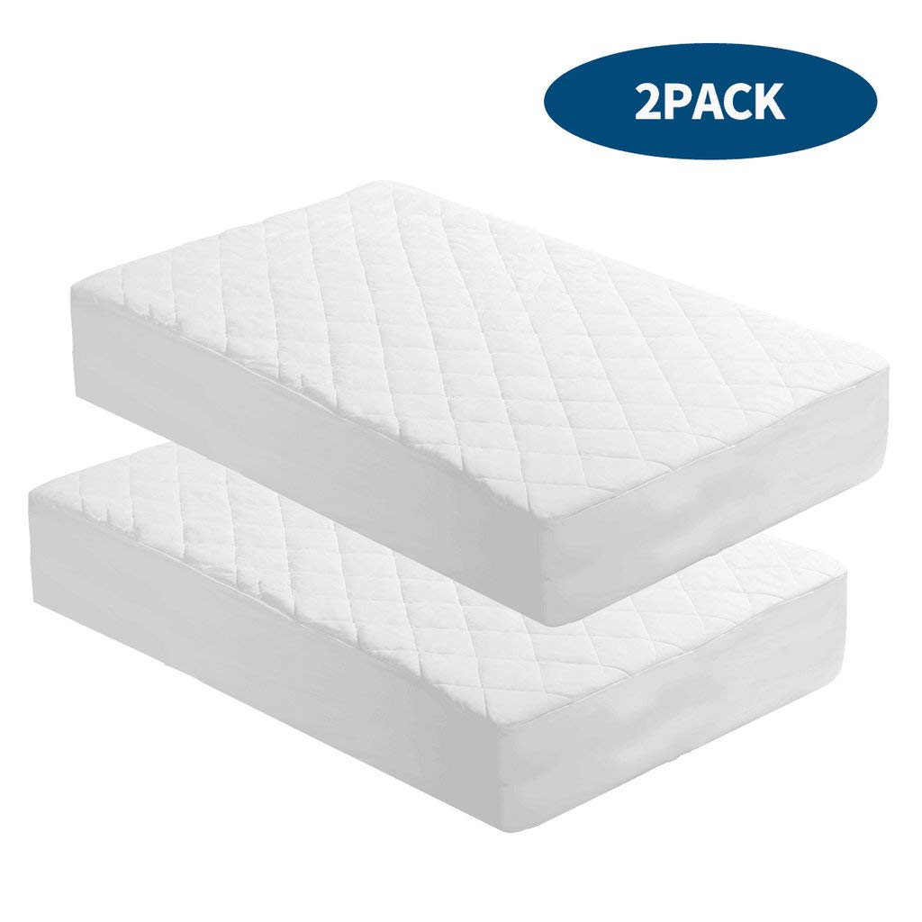 Quilted Fitted Mattress Cover for Baby//Toddler 28 x 52 x 8 Kingnex 2 Pack Waterproof Crib Mattress Protector Pad