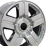20x8.5 Wheels Fit GM Trucks and SUVs - Chevy Texas Style Chrome Rims - SET