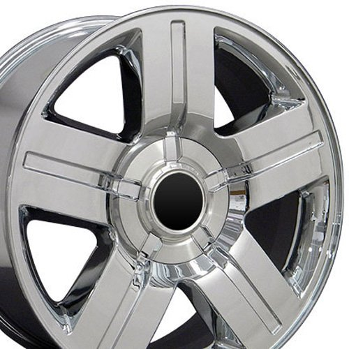 20x8.5 Wheel Fits Chevy Truck - Texas Style Chrome Rim (Chevy Truck Rims 20 compare prices)