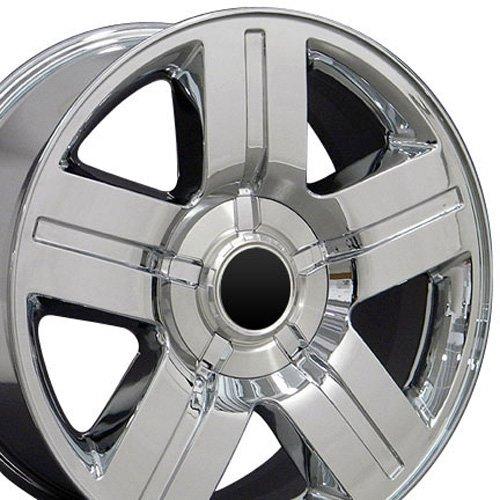 20x8.5 Wheel Fits GMC Chevy Trucks & SUVs - Chevy Texas Style Chrome Rim, Hollander (Chevy Truck Tires)