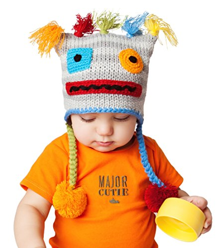 Huggalugs Baby and Toddler Boy, Girl Unisex Robot Beanie Hat, Pants Legwarmers