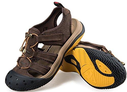 Mens Athletic Sandal Utomhus Sport Sandal Mörkbrun