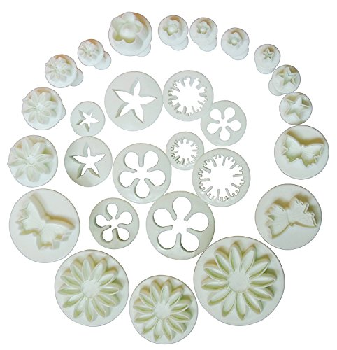 10-Sets-33-Pcs-Plunger-Cutters-Sugarcraft-Cake-Decorating-Heart-Veined-Butterfly-Star-Daisy-Veined-Rose-Leaf-Carnation-Blossom-Flower-Sunflower-Other