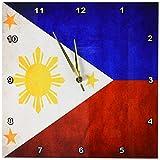 Cheap 3dRose dpp_28282_2 Philippines Flag Wall Clock, 13 by 13″