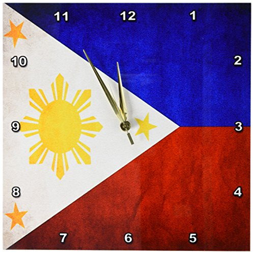Cheap 3dRose dpp_28282_2 Philippines Flag Wall Clock, 13 by 13″