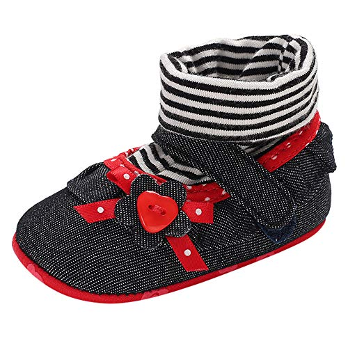 Weiyun Baby Tassel Bowkont Toddler Shoes Baby Girl Soft Sole Sneakers Infant Baby Anti-Slip First Walking Shoes Cute Fashion Shoes 6~12 Month, Silver