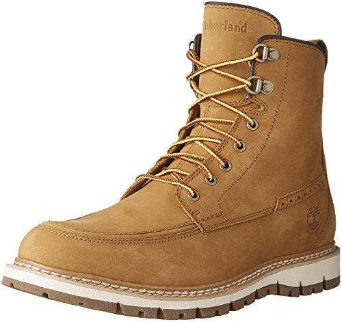 Hill Moc - Timberland Men's Britton Hill Waterproof Moc Toe Boot, Wheat Nubuck, 12 D