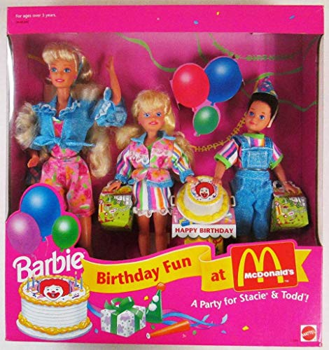 Barbie Birthday Party Fun at McDonald's Gift Set A Party Birthday For Stacie && Todd (1993) 30523e