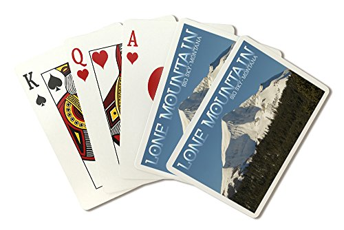 Big Sky, Montana - Lone Mountain (Playing Card Deck - 52 Card Poker Size with (Big Sky Cabins)