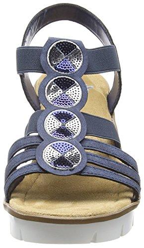 Plate Rieker atlantique 14 Femmes Des Bleu forme Bleu 65515 Sandales 5qw8X16