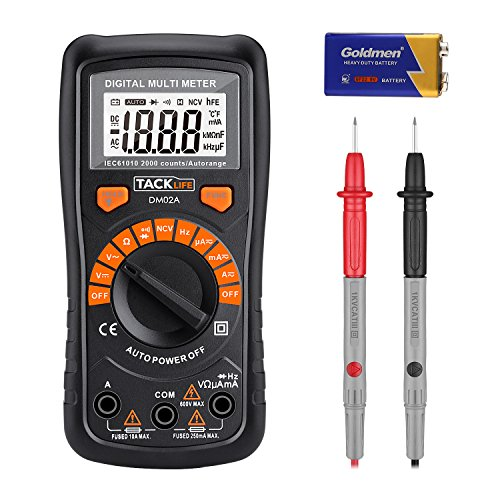 Multimeter, Tacklife DM02A Digital Multi Tester Auto-ranging Electrical...