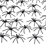 Pangda 160 pack Halloween spiders black plastic spiders for Halloween decorations, Halloween party favours Sufficient quantity: The package includes 160 pack black spiders, they all are packed in a bag, enough for spare and application in Hal...