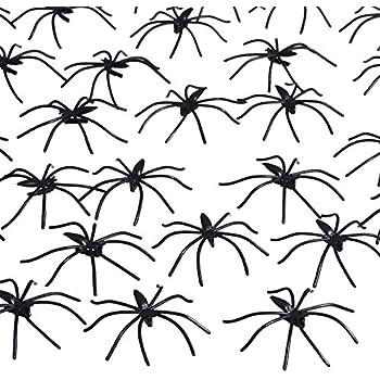 pangda 160 pack halloween spiders black plastic spiders for halloween decorations halloween party favours